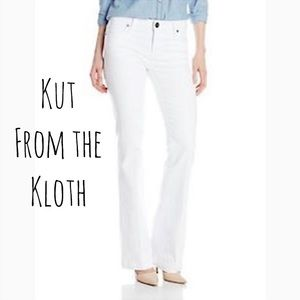 Kut From The Kloth Selena Flare Jeans White 6